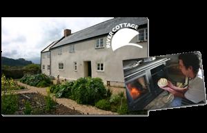 A River Cottage, - híres televíziós főzőműsor - az Esse tűzhelyében főz.