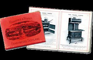 James Smith megismertette Skóciában az Esse tűzhelyeket. Képek az 1800-es évekből.